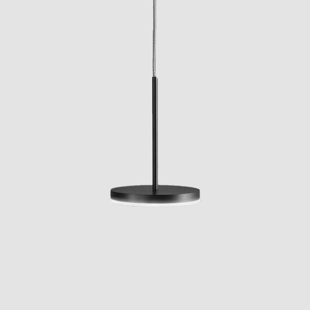Bella by Panzeri - Modern led pendant with white, black, titanium, bronze and matte brass finishes