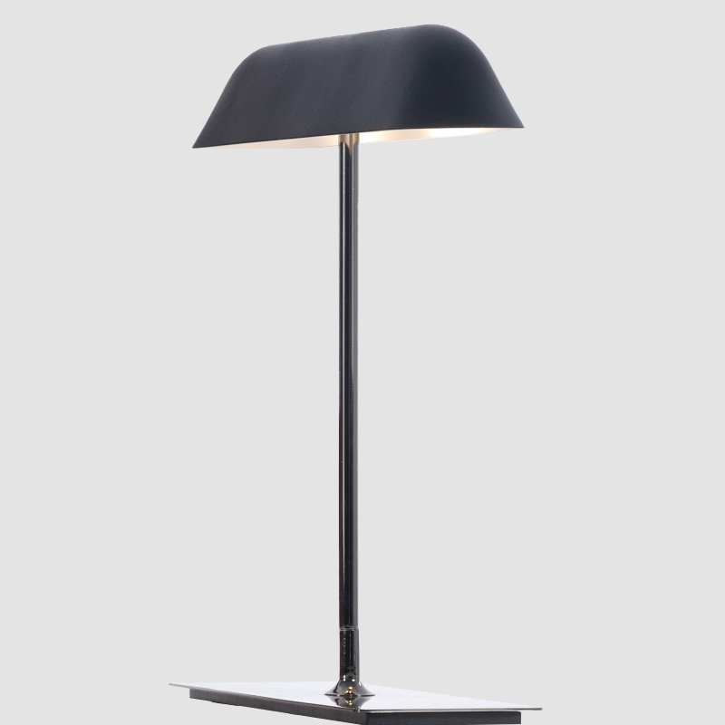 Butterfly by Fambuena - Design portable LED lamp made from black nickel iron with metal diffuser