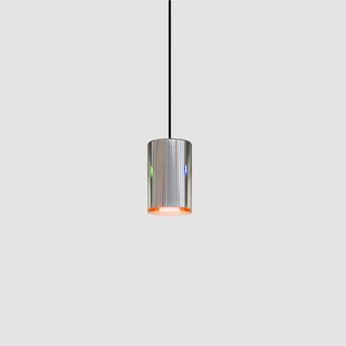 Can by Quasar - Design suspension ceiling pendant family of cylinder LED lamps with five colored acrylic lenses
