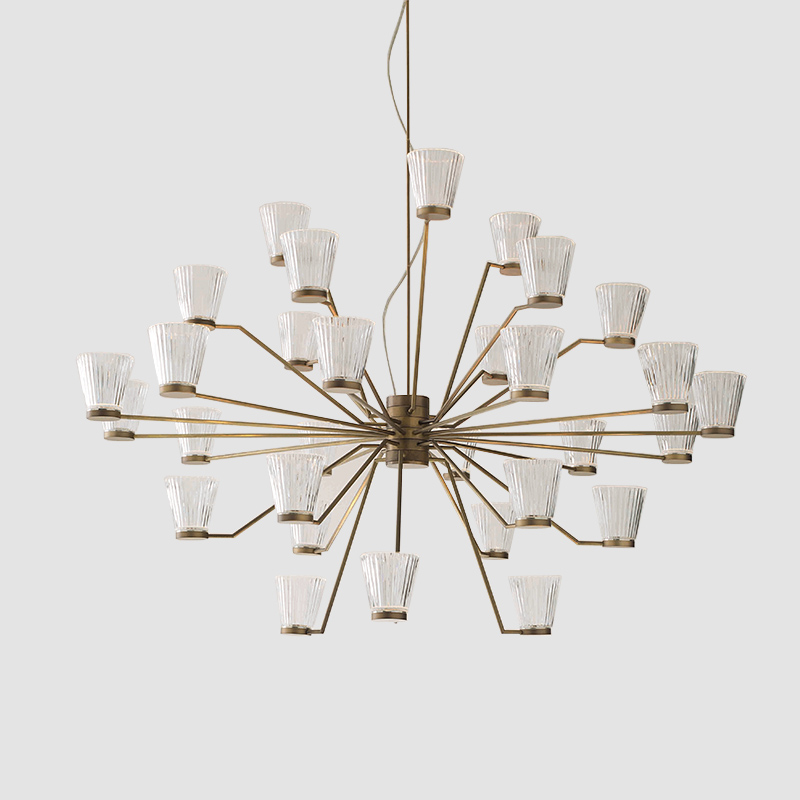 Canaletto by Icone - modern candelabra suspension fixtures consists of an 18 or 30 LED light chandelier