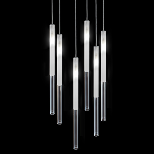 Candle by Panzeri - Design ceiling suspension lamp ideal for lobby or large residential areas