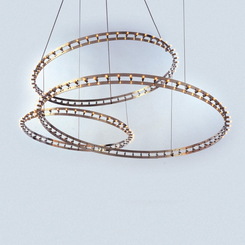 Citadel by Quasar - Design and contemporary ring shape suspension light