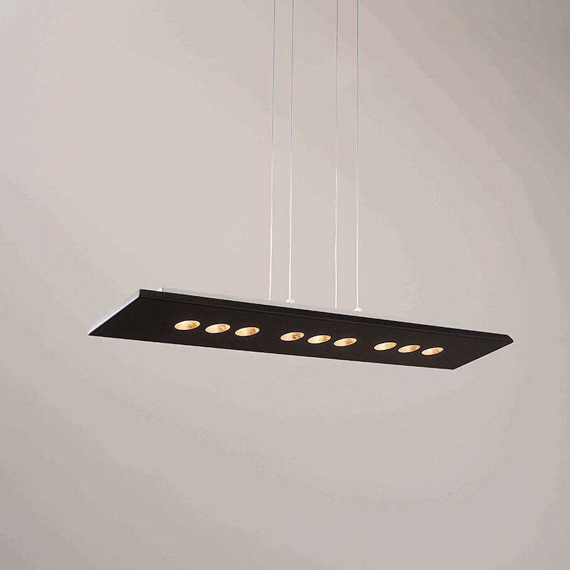Confort by Icone - Suspended mounted fixture available either in rectangle or square shapes