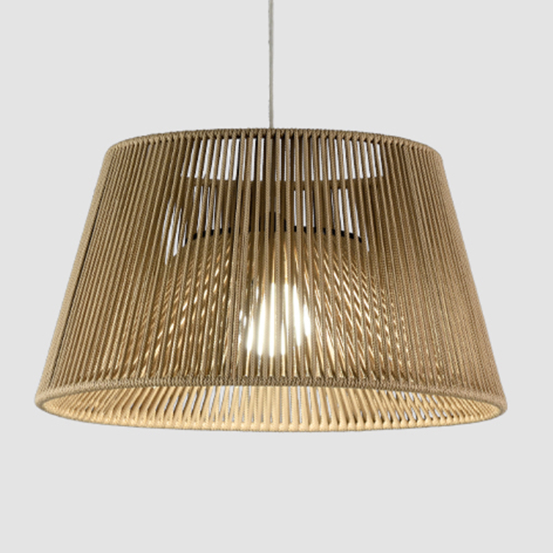 Conga by Ole - Design suspension light with hand-made braided cord lampshade
