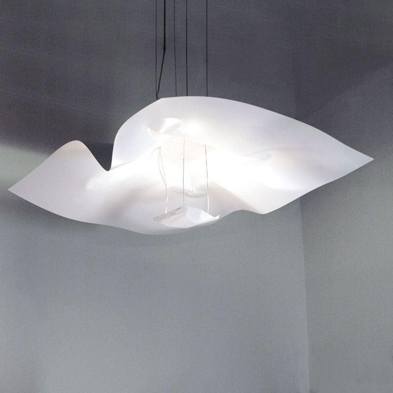 Crash by Knikerboker - Suspension LED light fixtures made of thumped aluminum