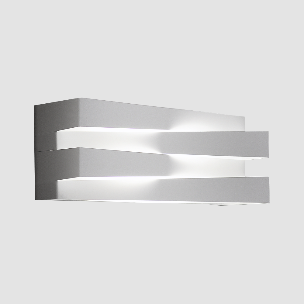 Cross by Panzeri - wall lamp providing direct and indirect LED light.