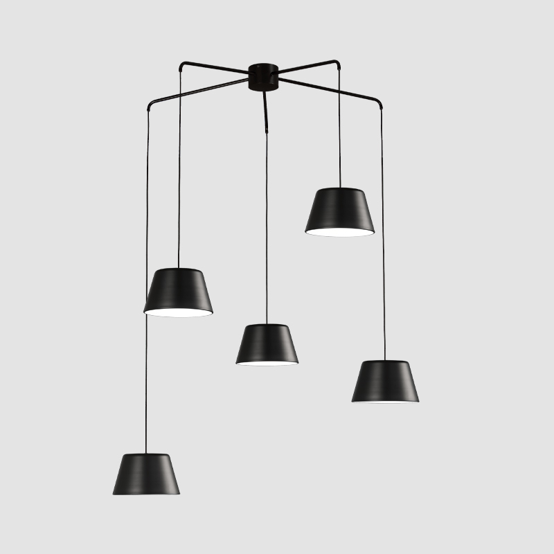 Dona by Ole - Elegant light fixture with fixed suspended metal arms