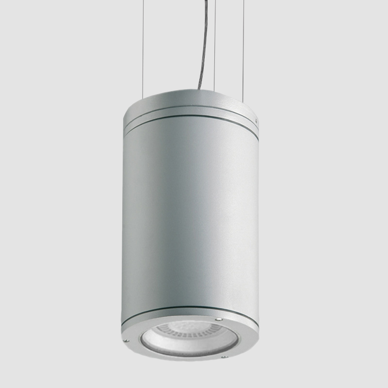 Emme by Side - Exterior downlights in suspension mount with a classic cylindrical shape