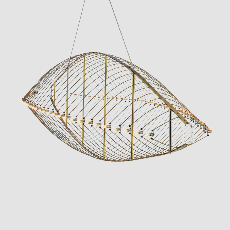 Fieltebek by Quasar - Design ceiling light with lamps running along the two sides of the fixtures