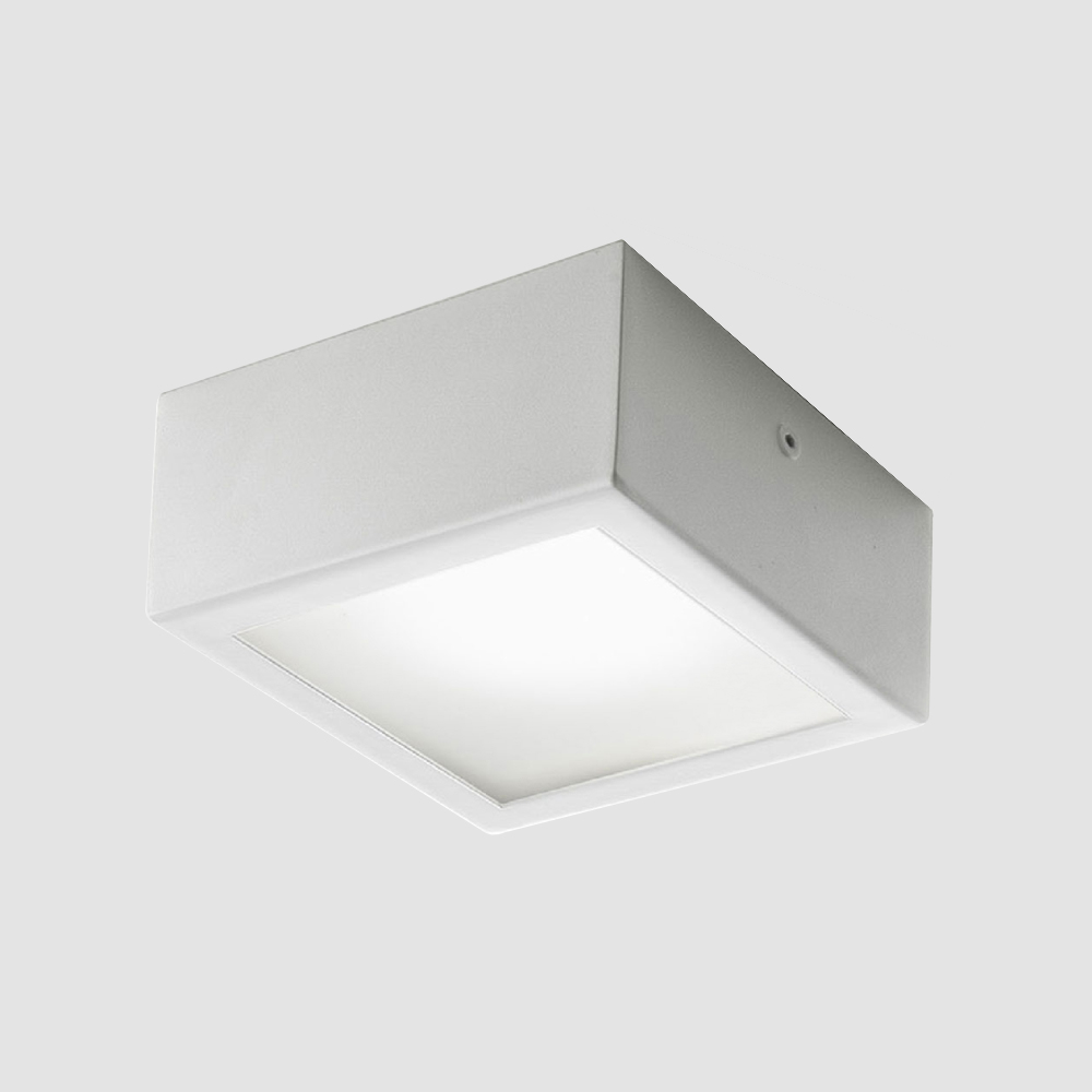 Four by Panzeri - Exterior ceiling LED light in the classic square shape