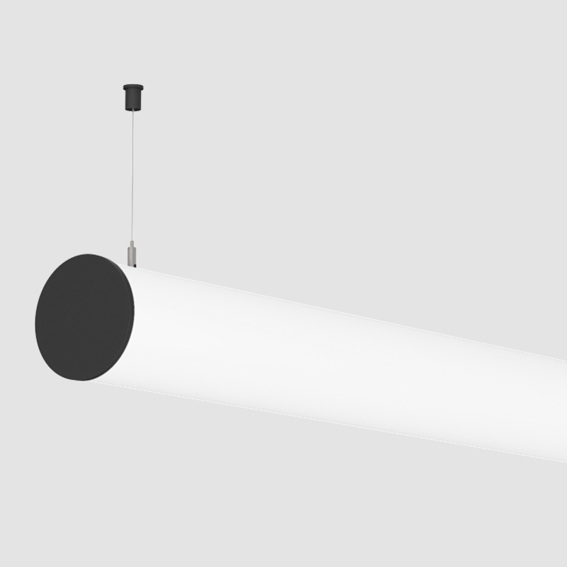 Ghost by Prolicht - Either a surface mount system and suspension system with timeless finished