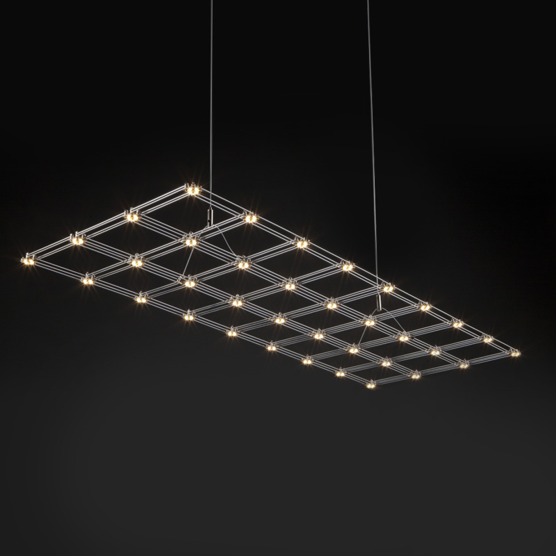 Grid by Quasar - Design ceiling suspension with LED lamps