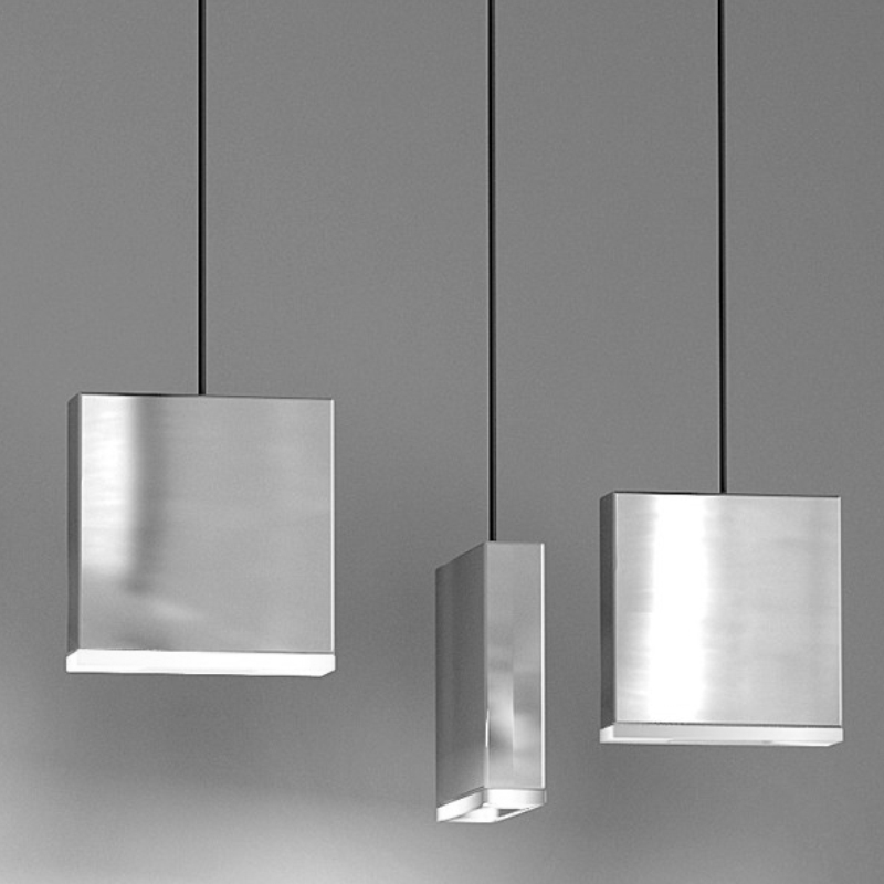 Match by Quasar - Cubic design suspension light with the option of single pendants or multiple along with a linear canopy
