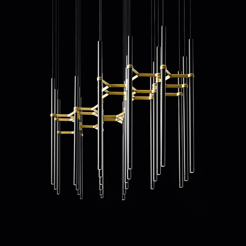 Metropolis by Studio Zaneen - Design and elegant single tube pendant manufactured