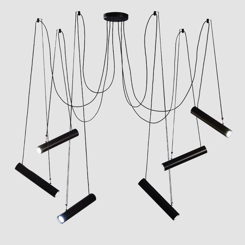 Pepo by Ole - Adjustable pendant light with aluminum cylinder spotlight
