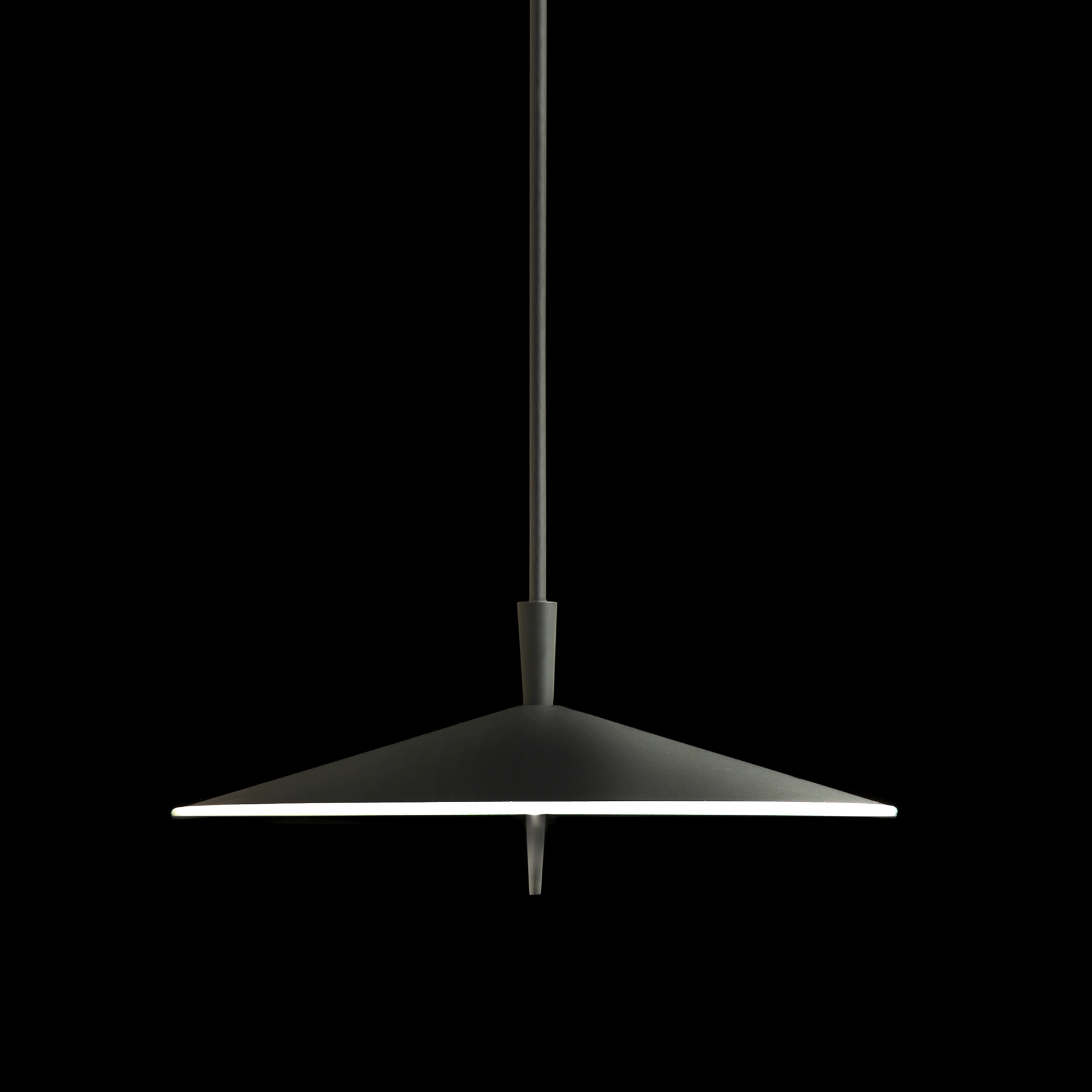 Pla by Milan - LED suspension fixture with five step touch dimming features - 2700K
