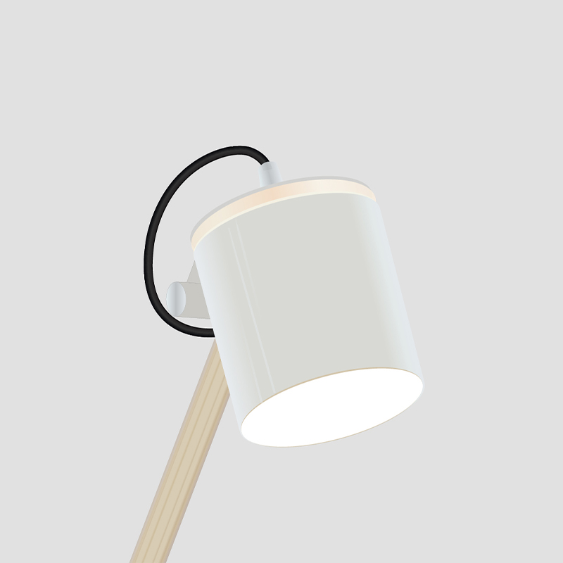 Plume by Fambuena - Design table lamp white and wood finishes