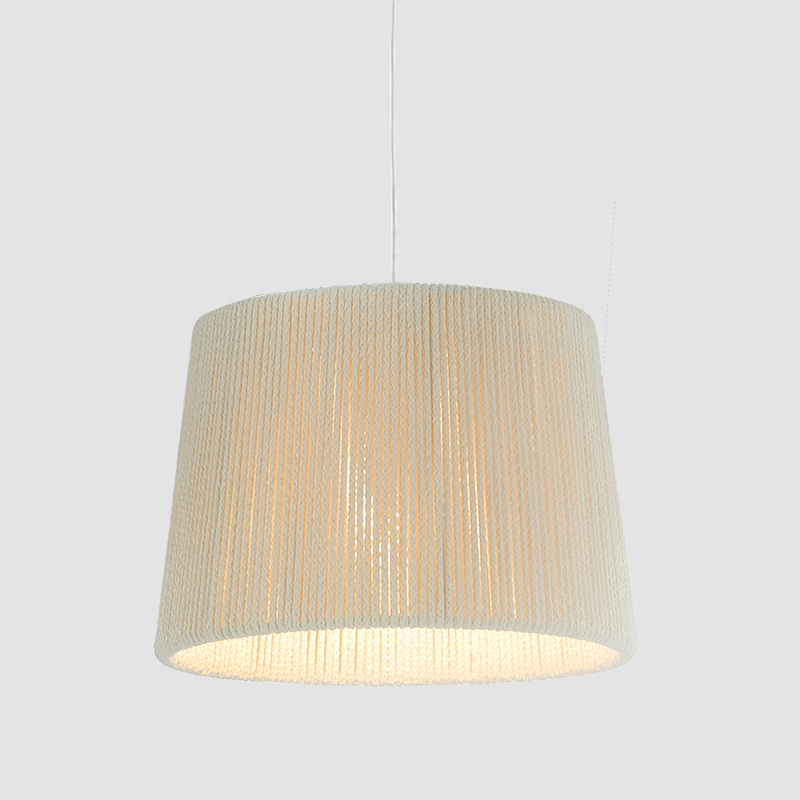 Rafia by Fambuena - Beige suspended shade wrapped by a fabric cord