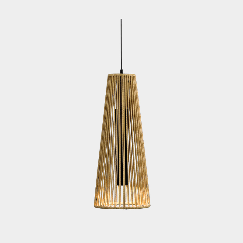 Savina by Ole - Suspended design light fixture on a conical metal structure