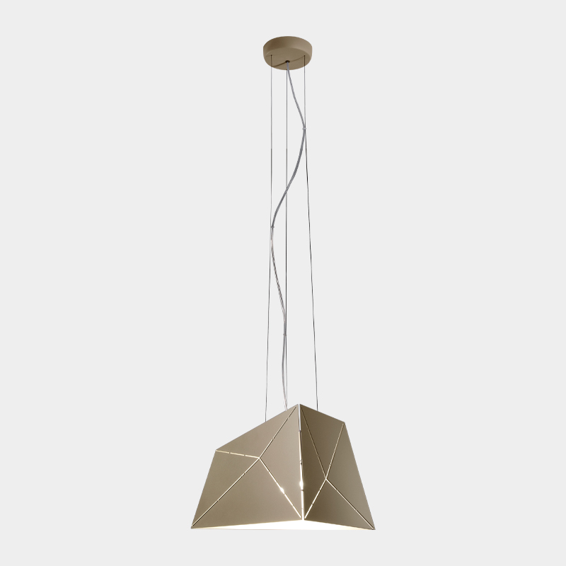 Slide by Ole - Geometric lamp with laser cut slits in the lampshade to compliment contemporary interiors