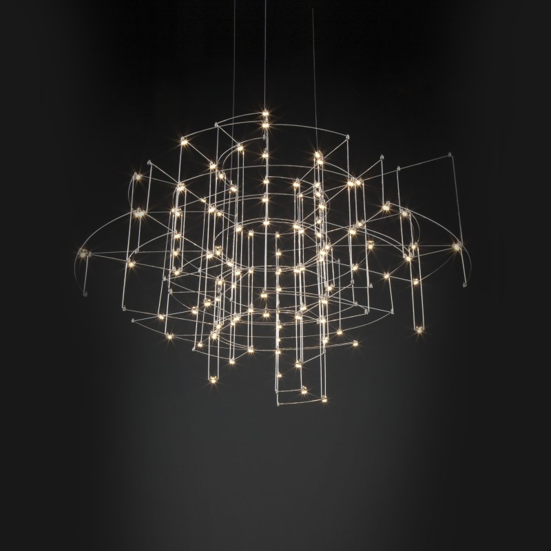 Spectre by Quasar - Hanging chandelier lighting fixture inspired by the James Bond movie