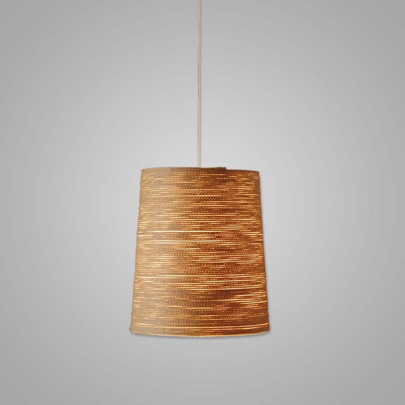 Tali by Fambuena - Suspension lamp wrapped with fabric cord in beige