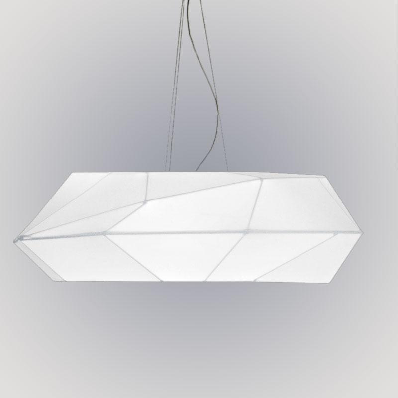 Viki by Panzeri - Design suspension light fixtures in bi-elastic, fire-resistant white fabric