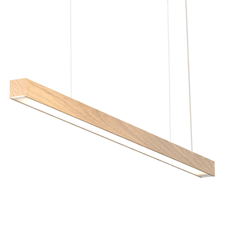 Woodlin by Tunto - linear profile either Portable, Surface and Suspension lighting handmade of wood