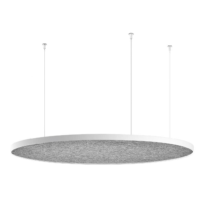 Zero Round Acoustic by Panzeri - Suspended acoustic PET Panel