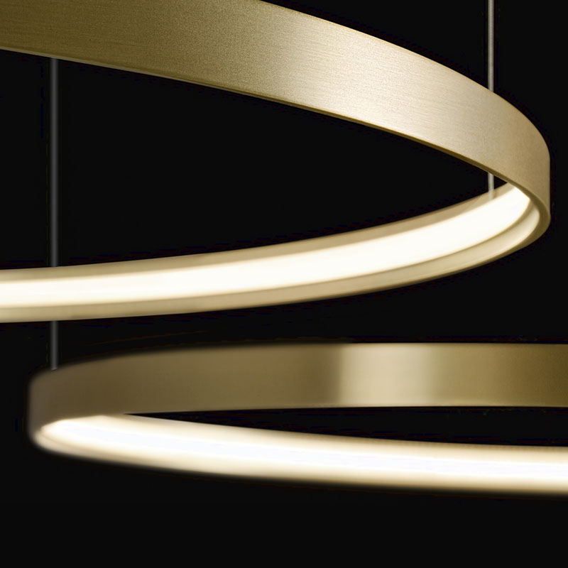 Zero Shapes by Panzeri - Minimalist ring profile system with inner light, as suspension or surface